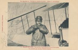 Aviateurs FARMAN ALLARD CAUDRON DARIOLI - Signatures Autographes Sur CP Emile DUVAL Touquet Paris Plage - Aviateurs