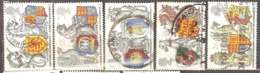 Great Britain: Full Set Of 5 Used Stamps, 650 Years Of Garter, 1998, Mi#1734-1738 - Oblitérés