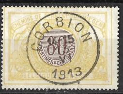 B0.31: CORBION  14-15 13 VI 1903: N°TR39: Poststempel: Type E18 - Bahnwesen