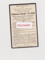 DOODSPRENTJE LALOUX ALPHONSE ECHTGENOOT VANDOMMELE BONSIN AVERNAS 1896 - 1944 BEWERKT TEGEN KOPIEREN - Images Religieuses