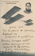 Aviateur H. WINTREBERT- AVIATION  - Texte Et Signature Autographe - CP Datée Du 17/11/14 - Autographes