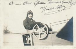 Pionnier Aviation HERACLES ALFARO - Texte Et Signature AUTOGRAPHE Sur  CP PHOTO - Mourmelon Le Grand  Marne - Luftfahrt