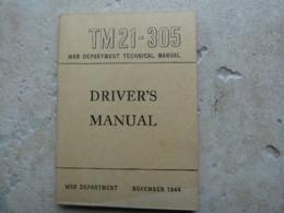 TM FM Manuel Technique Americain US Drivers Manual Conducteur Ww2 Daté 1944 - 1939-45