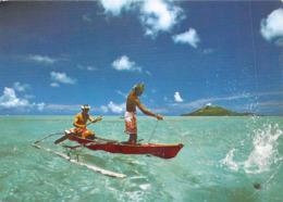 Polynésie Française- BORA-BORA Pêche Aux Cailloux Stonefishing  (B) (Erwin Christian 8-Tahiti )@*PRIX  FIXE - Polynésie Française