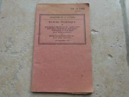TM FM Manuel Technique Americain US Appareils Detecteurs De Metaux M1 SCR 625 Ww2 Daté 1943 - 1939-45