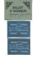 3 Billets D'Honneur Art Déco  Et Un Billet De Satisfaction.  Billet De Satisfaction 1965 - 2 Billets D'honneur 1972 . - Diplomas Y Calificaciones Escolares