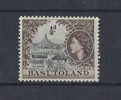 """BASUTOLAND.....QUEEN ELIZABETH (1952-NOW).."""" 1954.""""....HALFd.........SG43.......MNH. - 1933-1964 Kronenkolonie"""