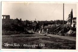 1948 DEUX PONTS - ZWEIBRUECKEN - Carte Photo Privée Animée Ruines - Zweibruecken