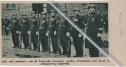 LOKEREN..1937.. ACHT POMPIERS KREGEN ERETEKEN VOOR MOED EN ZELFOPOFFERING - Ohne Zuordnung