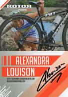 CARTE PHOTO DEDICACEE - K - TRIATHLON - ALEXANDRA LOUISON - PALMARES AU VERSO - ROTOR POWERS ME ! - Cartoline