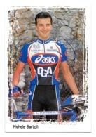 CARTE CYCLISME MICHELE BARTOLI SIGNEE TEAM ASICS 1998 - Ciclismo