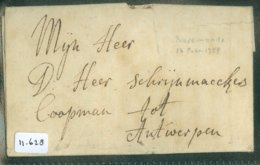 POSTHISTORIE * VOORLOPER * HANDGESCHREVEN BRIEF Uit 1758 Van RUREMONDE ROERMOND Naar ANTWERPEN BELGIE  (11.628) - ...-1852 Vorläufer
