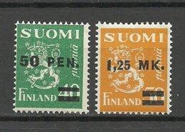 FINLAND FINNLAND 1931 Michel 170 - 171 * - Nuovi