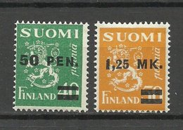 FINLAND FINNLAND 1931 Michel 170 - 171 * - Ongebruikt