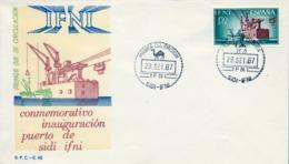 1967 IFNI , SOBRE DE PRIMER DIA  , ED. 229 , INSTALACIONES PORTUARIAS - Ifni