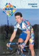 CARTE CYCLISME PAVEL TONKOV SIGNEE TEAM MAPEI 1998 2ª SERIE - Ciclismo