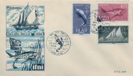 1958 IFNI , SOBRE DE PRIMER DIA  , ED. 149 / 151 , DIA DEL SELLO - Ifni