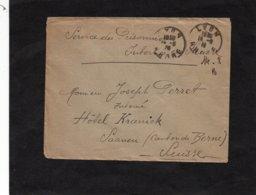 LSC 1916 - Enveloppe Adressée Au Service Des Prisonniers Internés En Suisse - Au Dos Cachet SAANEN (Bern) - Marcophilie (Lettres)