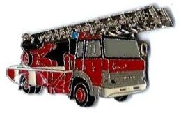 POMPIERS - P28 - CAMION GRANDE ECHELLE - Verso : SM - Pompiers