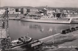 CIVITAVECCHIA-PANORAMA DEL PORTO-CARTOLINA VERA FOTOGRAFIA-VIAGGIATA IL 19-12-1954 - Civitavecchia