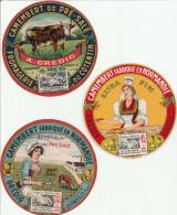 Camembert Du Cotentin - Laiterie De Quinéville Manche - 3 étiquettes Différentes Neuves - Fromage Vache - Fromage