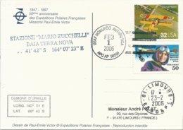 Carte Illustrée PE Victor Avec Cachet USAF McMurdo Antartica Sur Timbres USA N°2621 Et PA N°121 - 01/02/2006 - Forschungsprogramme