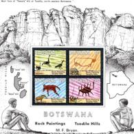 Botswana - 1975 Rock Paintings MS MNH (**) # SG 350 - Archäologie