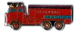 POMPIERS - P21 - CAMION AVEC CANON A EAU - AEROPORT - Verso : SM - Pompiers
