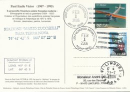 Carte Illustrée PE Victor Avec Cachet USAF McMurdo Antartica Sur Timbres USA N°2625 Et N°2441 - 01/02/2006 - Forschungsprogramme