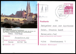 72903) BRD - P 138 - R7/101 - 5000 OO Gestempelt - 8400 Regensburg, Brücke, Brückentor, Dom St. Peter, Kirche - [7] Federal Republic