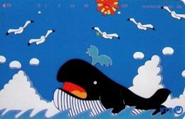 JAPON. BALLENA. Cartoon Whale And Seagulls. JP-231-297 D. (126) - Japón