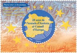 French Andorra 2019 - 25 Anys De L'entrada D'Andorra Al Conselld'Europa Mnh - Französisch Andorra