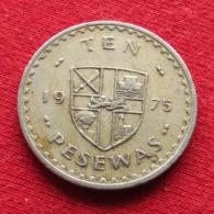Ghana 10 Pesewas 1975 KM# 16 *V1 Gana - Ghana