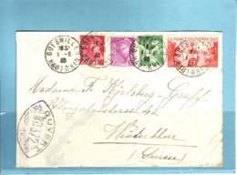 Lettre Oblitération Gruebwiler 1.6.1940 Pour Winterthur(CH) - Covers & Documents