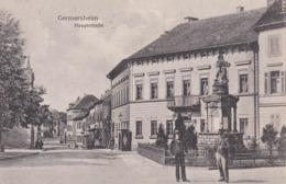 CPA :   Germersheim   (Allemagne Palatinat )  Hauptstrasse       Ed  Wolfrum     1925 - Germersheim