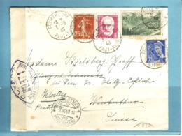 Lettre Oblitération Colmar Gare 3.6.1940 Pour Winterthur (CH) - Covers & Documents