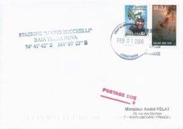 Lettre Avec Cachet USAF McMurdo Antartica Sur Timbres USA N°3048 Et N°2441 - 01/02/2006 - Forschungsprogramme