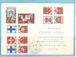 Lettre Belfort 21.2.1959 Pour La Neuveville (CH) Avec Vignette Au Dos - Covers & Documents