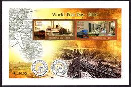 Sri Lanka 2017 World Post Day Souvenir Sheet Unmounted Mint. - El Salvador