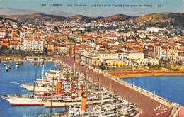 06 - CANNES - Vue Générale - Le Port Et Le Casino (vue Prise En Avion) - Cannes