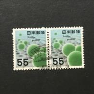 ◆◆◆ Japón 1956   2nd Unit (Without *00*.)   55 Yen X2  USED   AA5236 - 1926-89 Emperor Hirohito (Showa Era)