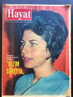 Iran Persia Pahlavi - Soraya Esfandiary-Bakhtiary Hayat Turkish Magazine 1965 May - Boeken, Tijdschriften, Stripverhalen