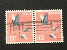 ◆◆◆Japan 1963  Animal,Plant,&National Treasure Series 3rd Unit (Designs Chaged)  100 Yen X2  USED   AA5242 - 1926-89 Emperor Hirohito (Showa Era)