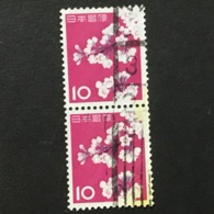 ◆◆◆Japan 1961  Animal,Plant,&National Treasure Series 3rd Unit (Designs Chaged)  10 Yen  X2  USED   AA5246 - 1926-89 Emperor Hirohito (Showa Era)