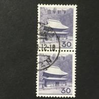 ◆◆◆Japan 1962  Animal,Plant,&National Treasure Series 3rd Unit (Designs Chaged)  30 Yen  X2  USED   AA5247 - 1926-89 Emperor Hirohito (Showa Era)
