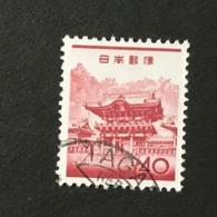 ◆◆◆Japan 1962  Animal,Plant,&National Treasure Series 3rd Unit (Designs Chaged)  40 Yen    USED   AA5249 - 1926-89 Emperor Hirohito (Showa Era)