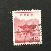 ◆◆◆Japan 1962  Animal,Plant,&National Treasure Series 3rd Unit (Designs Chaged)  40 Yen    USED   AA5251 - 1926-89 Emperor Hirohito (Showa Era)