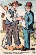 """ILLUSTRATEUR GRIFF """" ALORS , T'ES VALET D' CHAMBRE !  ... """" - Griff"""