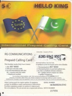 GREECE - Hello King, RG Comm Prepaid Card 5 Euro, Thin CN, Used - Grèce