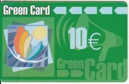 GREECE - Green Prepaid Card 10 Euro(matt Surface), Used - Grèce